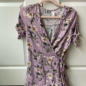 Lilac floral dress
